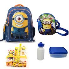 1 set Minion Children School Bags for boys cute cartoon school backpack mochila minion backpacks 15.7inch High Quality(China (Mainland))