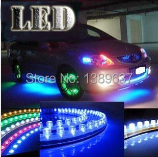 1pcs 24cm DRL Flexible LED Tube Strip Style Daytime Running Lights Car Headlight Car styling Parking lamps(China (Mainland))