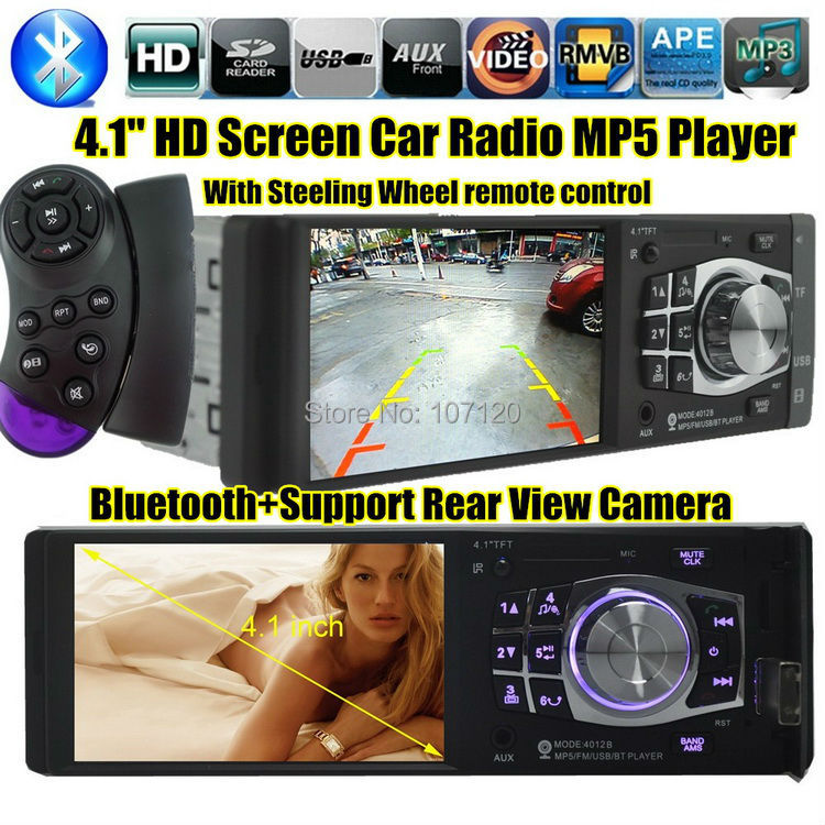 2015 4.1'' inch TFT screen Car Stereo MP3 MP4 MP5 12V Car Radio Audio video MP5 FM/USB/SD/MMC/1 Din In-Dash/AUX IN 1080P player(China (Mainland))
