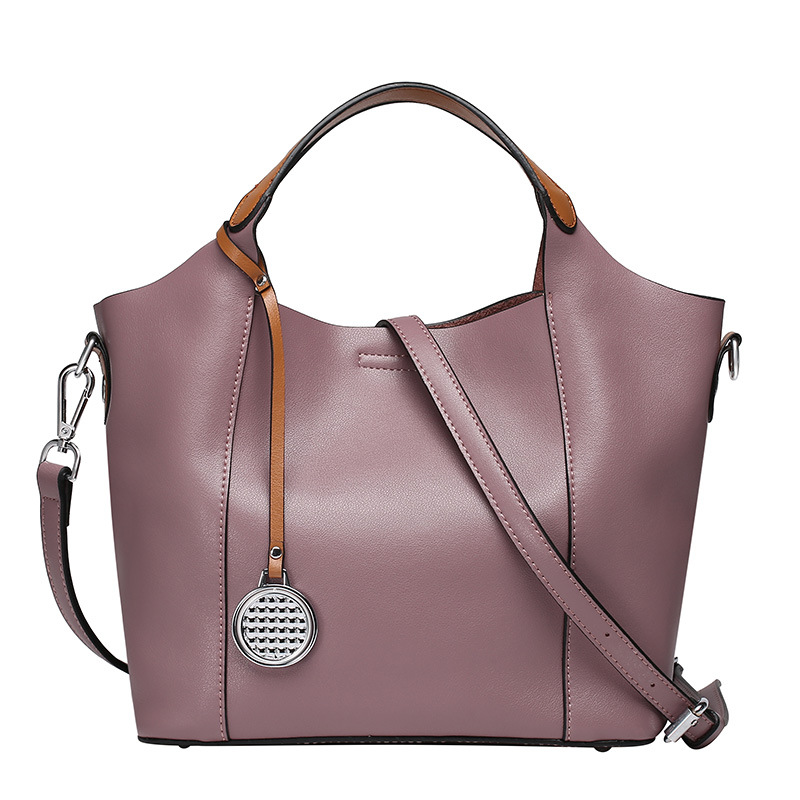 100% women's genuine leather hand bag +messenger bag ladies fashion casual tote bags handbags women famous brands bolsos mujer(China (Mainland))