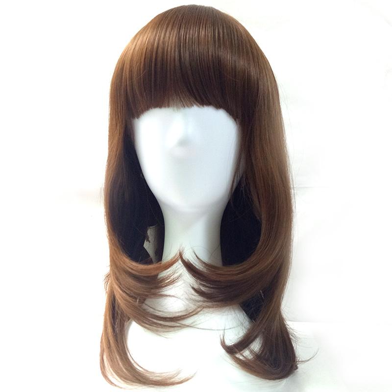 Прически парик с челкой