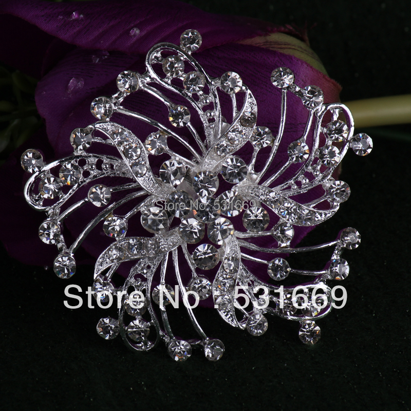 Free Shipping 12pcs rhinestone brooches in lots nice design for scarf clip hijab pins B286<br><br>Aliexpress