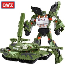 Buy QWZ Cool Deformation Tank Military Model Toys Action Figures Armored Car Robot Plastic ABS Movie 4 Anime Classic Toys Boy Gifts for $10.99 in AliExpress store