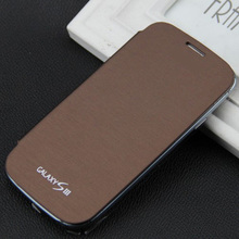 1x Ultra Thin Leather Case Flip Cover For Samsung Galaxy i9300 S3 Neo I9301i SIII Neo+ i9300i Battery Housing Cover + Free film(China (Mainland))