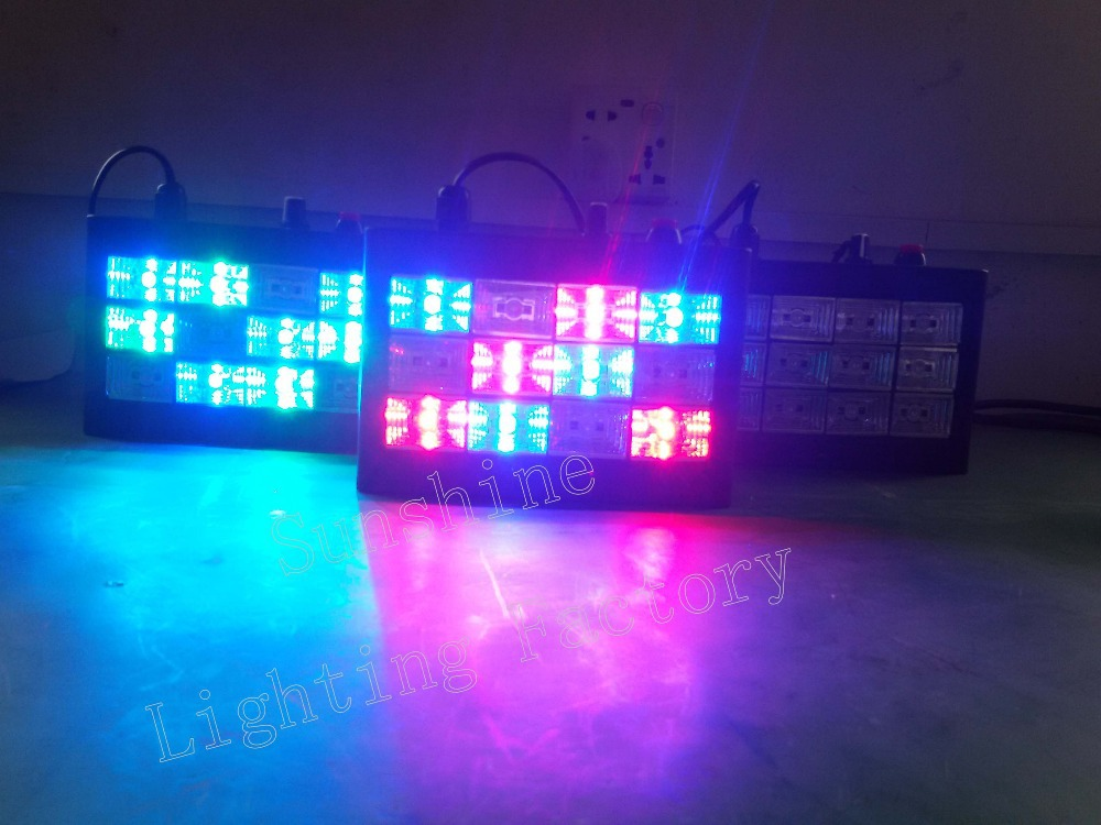 LED strobe dj lights 12w RGB Sound-activated/Auto disco light party nightclub flashing - Guangzhou Sunshine Stage Lighting Equipment Factory store