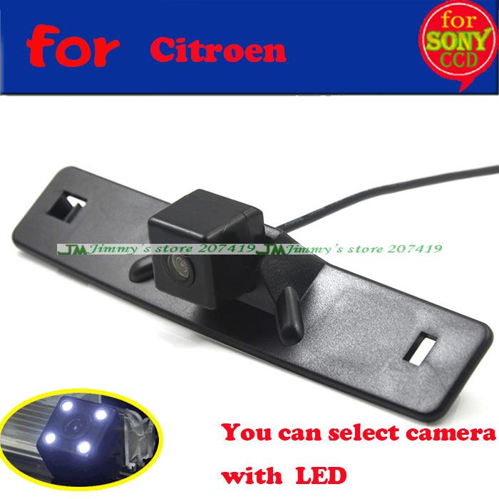Fast shipping for sony ccd 170 degrees Car Parking reverse backup camera for Citroen Elysee c-Elysee 2014 Night Vision with LEDS(China (Mainland))