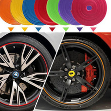 9 Colors Available Vehicle Wheel Protector 8M Line Moulding Flexible Heatproof Trend(China (Mainland))