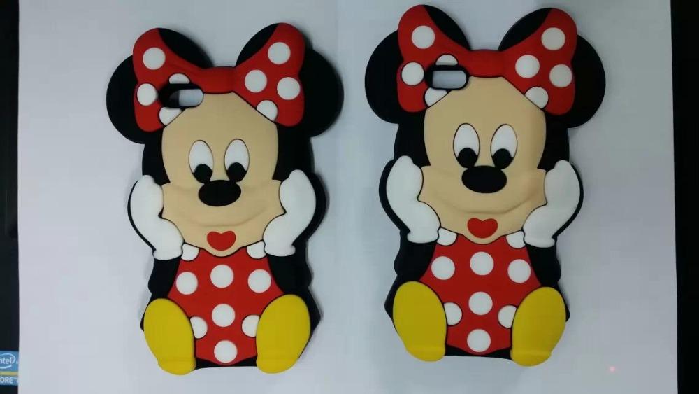 20pcs/lot 3D Cute Cartoon Minnie Mouse Soft Silicone Back Cover Case for Samsung galaxy S3 mini i8190 S4 mini i9190 S5 mini G800