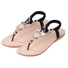 2016 Women Shoes Sandals Comfort Sandals Women Summer Classic Rhinestone Fashion Summer High Quality Flat Sandals PL001