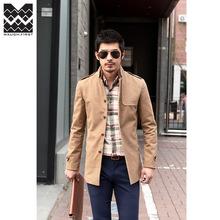New Elegent Wool Long Coat Jacket Blazer Outdoor Big Size Men Male Coats 2015 Mens Winter Trench Coat Clothing Plus Size:M-XXXL(China (Mainland))