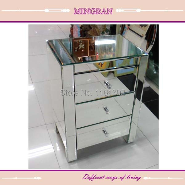 MR-401002 Beveled edged mirrored night stand/ side table/tall boy mirrored furniture for bedroom(China (Mainland))