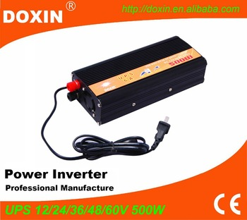 500W 12V to 220V  Modified Sine Wave UPS Power Inverter with Charger