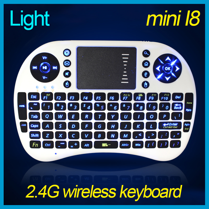 Mini i8 2.4GHz Wireless Keyboard English V6A Mouse Remote Control Touchpad For Linux Mac OS Notebook Tablet Pc X-BOX Smart TV(China (Mainland))