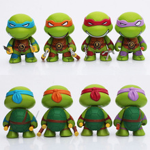 Teenage Mutant Ninja Turtles figures keychain 7cm 4pcs/lot Action TMNT Figure Toys Dolls Raphael  TURTLES Free Shipping(China (Mainland))