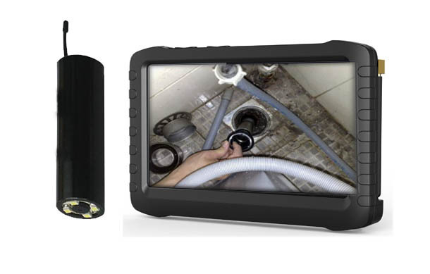 2.4GHz wireless pipe inspection camera 5-inch mini DVR recorder receiver(China (Mainland))