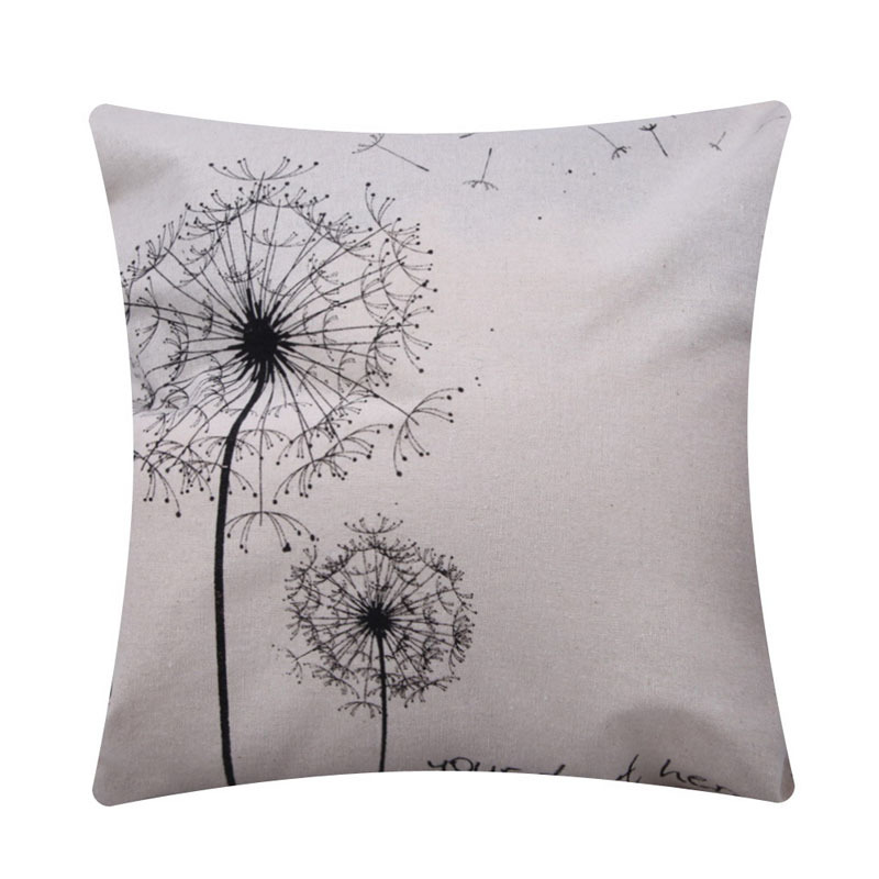 New Simple Fashion Linen Throw Pillow Cases Home Decor Cushion Cover