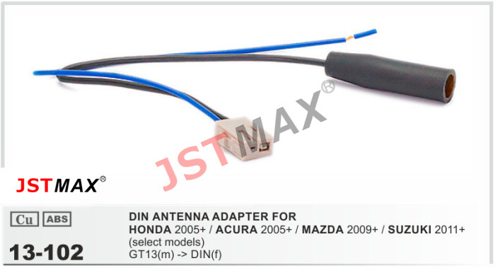 JSTMAX car DVD Radio stereo ISO cable Antenna Aerial Adapter for HONDA / ACURA / MAZDA / SUZUKI Adaptor Connector Plug(China (Mainland))