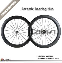 Buy High grade,Super light 60mm clincher/tubular carbon wheel 700C road bike wheels, 25mm width Ceramic bearing hubs for $486.00 in AliExpress store