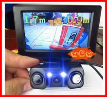 2015 Car Video Parking Sensor , Rear camera + 2 Sensor Video Display Indicator Bi Bi Alarm Car Reverse Sensor(China (Mainland))