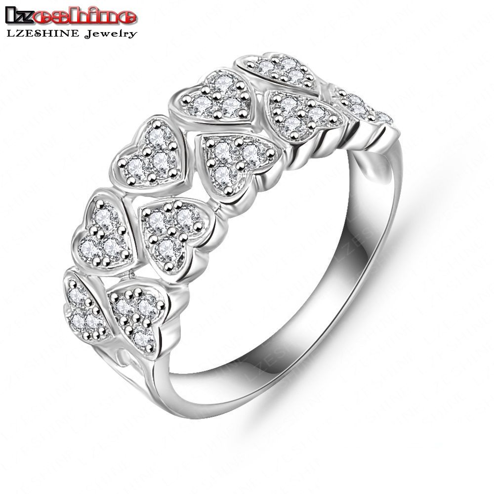 Wedding Dress Rings Real 18K Gold/Platinum Plated AAA Zircon Fashion Jewelry Rings Free Shipping Aneis Delicado CRI0019(China (Mainland))