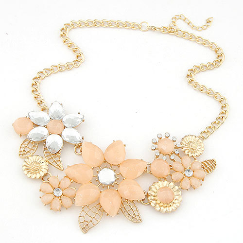 Collier Femme Statement Necklaces & Pendants Collar Mujer Colar Boho Flower Choker Fashion Necklaces for Women 2014 2015(China (Mainland))