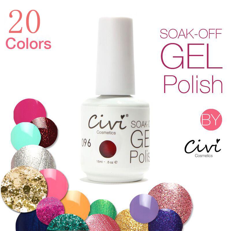 Civi Nail Gel Polish Soak Off Nail Gel UV 30 Days Long Lasting 20 Gorgeous Colors The Best Gel Polish<br><br>Aliexpress