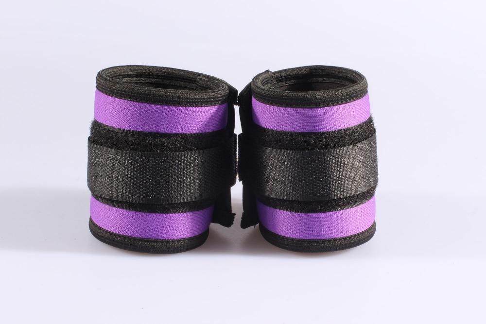 Purple sponge and braid velcro hand cuffs, adult sex toys, drop shipping wholesale cheapper wrist cuffs(China (Mainland))