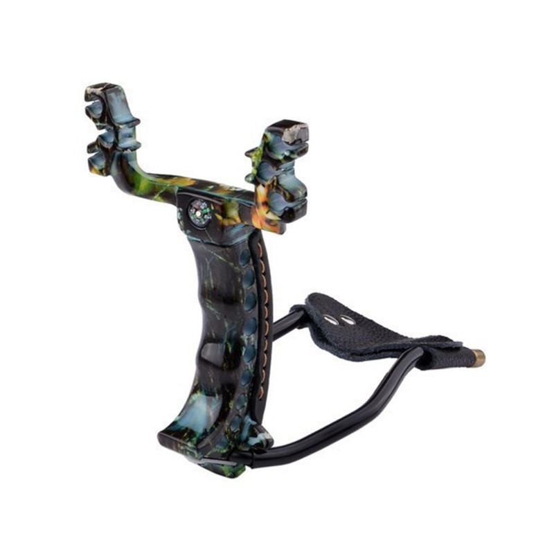 free shiping Slingshot Hunting Powerful Catapult Camouflage Stainless Steel Arrow Rest