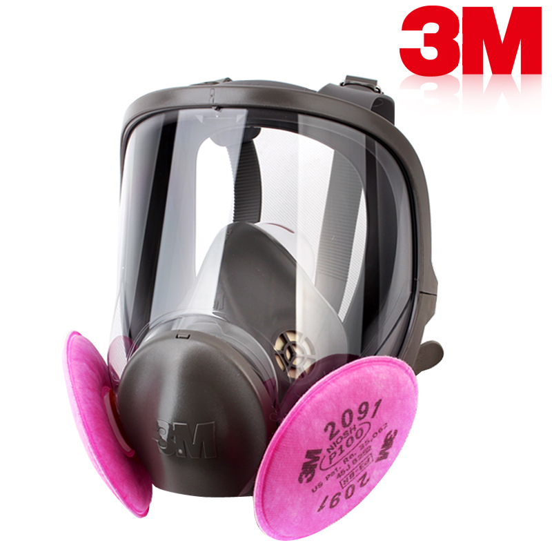 3M 6900+2091 SIZE L radiation-resistant Exceptional 99.97% filter efficiency P100 against many oil/ non-oil particulate(China (Mainland))