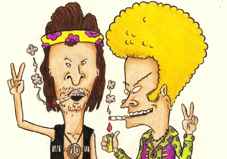 beavis butthead hippie humor funny 4 Size Home Decoration Canvas Poster Print