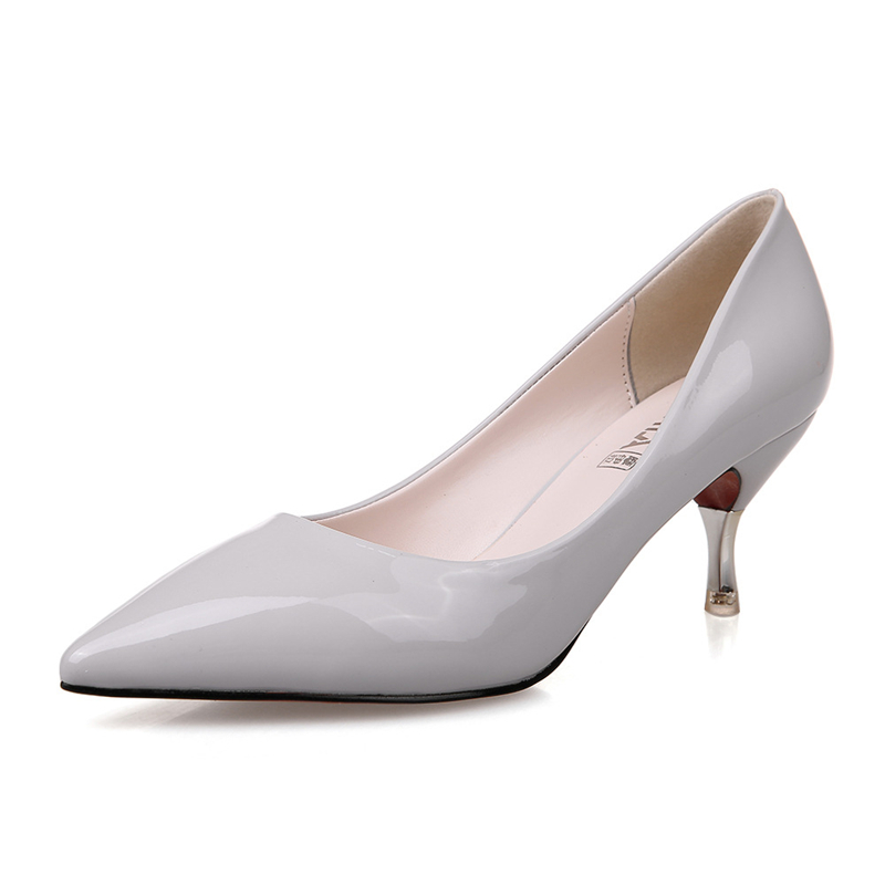 US 4-9 Candy Color Pointy Toe Sexy  Ladies  Patent  Leather Low Heels Pumps  Womens Wedding Heels