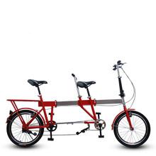 20-inch Double / telescopic folding / lovers bike / paternity cycling road / bike cheap promotional(China (Mainland))
