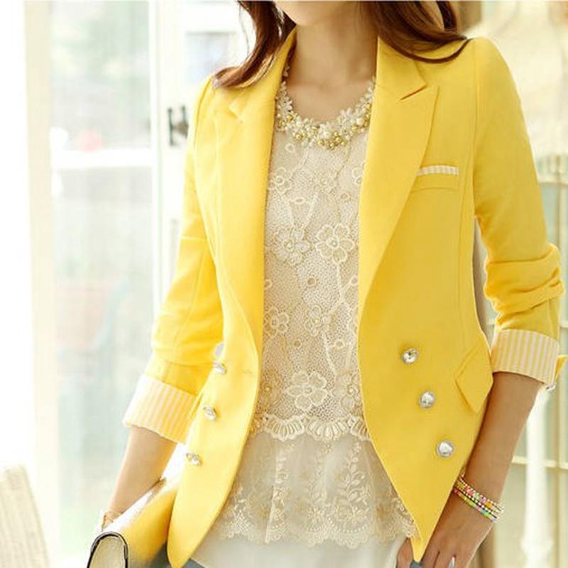 Пиджак женский желтый с чем носить