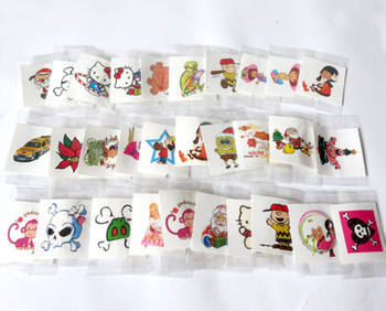 Mini cartoon tattoo sticker waterproof children stickers child diy water transfer toys mix style