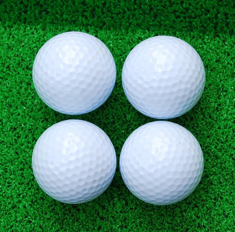4PCS Cheap! Good quality! Brand New for practice golf training white golfballs Golf Balls(4pcs/lot) golf bolas TWO Piece Ball(China (Mainland))