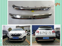 Peugeot 3008 Front Rear Bumper Protector Body Kits, Stainless Steel, Free Shipping