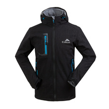 2014 New men's outdoor soft shell clothes fashion Spring autumn hoodie coat jacket /hiking fishing climbing outdoors