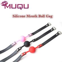 Силиконовый шар кожа рот кляп черный розовый красный рот фаршированные эротические игрушки для взрослых секс игрушки мяч разъем juguetes sexuales para parejas