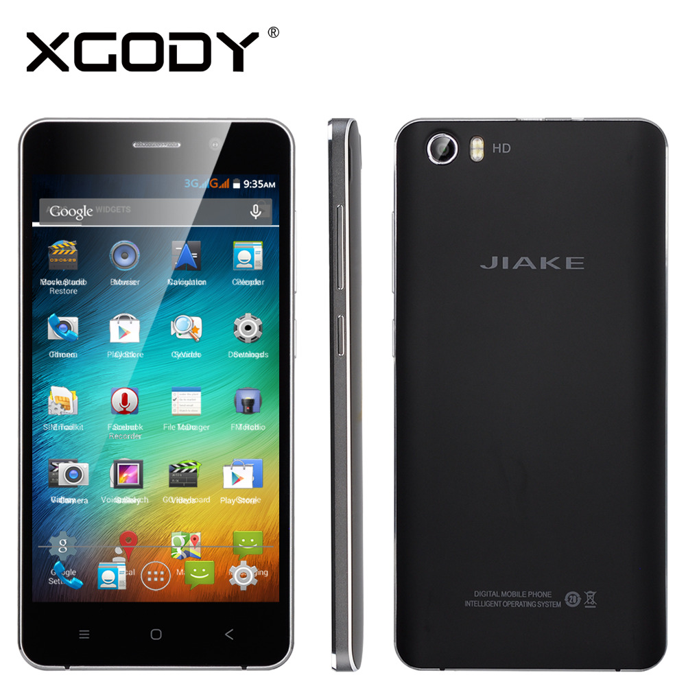 "JIAKE S6 Quad Core 5"" Android 4.4 ROM 8GB RAM 1G Smart Phone 3G WCDMA GPS Dual SIM Cell Phone In Stock(China (Mainland))"