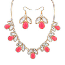 Sapphire Jewelry Arrival Top Fashion Necklace/earrings Women Crystal Party Jewelry Sapphire Se108 Sweet Candy, Geometry Sets