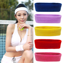 Hot New Women Men Sport Sweat Sweatband Headband Yoga Gym Stretch Head Hair Band(China (Mainland))