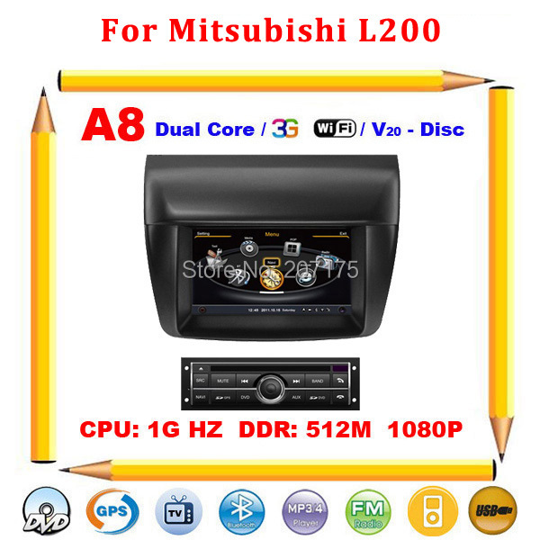 7 inch HD S100 Car DVD radio for Mitsubishi L200 with 3G USB Host GPS 1G CPU Support DVR screen audio video player Free shipping(China (Mainland))