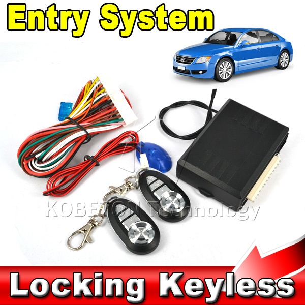 New Universal Car Auto Remote Central Kit Door Lock Locking Vehicle Keyless Entry System With Remote Controllers(China (Mainland))
