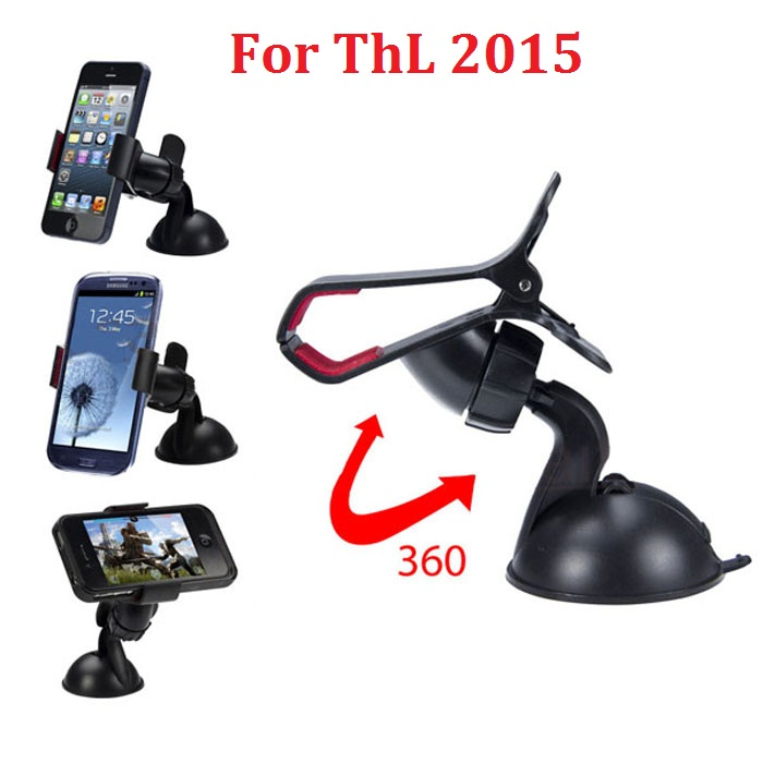 360 rotate clip phone car holder for ThL 2015 and GPS mobile phone accessories(China (Mainland))