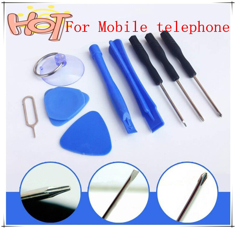 2015 Hot Cell Phones Opening Pry 9 in 1 Repair Tool Kit Screwdrivers Tools Set Kit For Mobile telephone Free Shipping(China (Mainland))