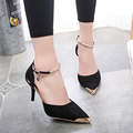 2017 Women Suede Pumps High Heels Women OL Pumps Sexy High Heels Shoes Women Pointed Toe