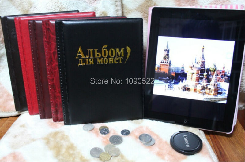 5 color & Free Shipping 2014 New Coin Album 10 Pages fit 250 Units coin collection book Collect(China (Mainland))