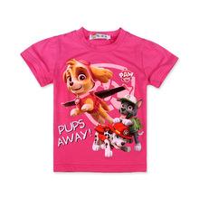 Kids 2016 Girls T-shirt Summer Dogs Patrol Cartoon Girls T Shirt Tops Children Clothing Dogs PATROL Baby Girls T-Shirt Clothes