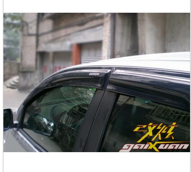 New Mugen Style Window Visor Vent Deflector Sun Rain Guard Shield For 07 12 Nissan Qashqai