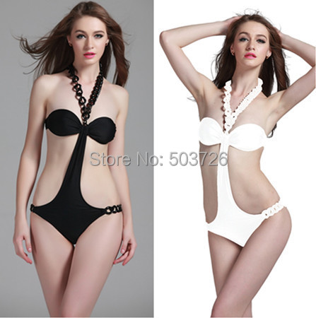 2013 Brand New Sexy Padded Cups Swimwear Women Hot Sale Necklace Swimsuit